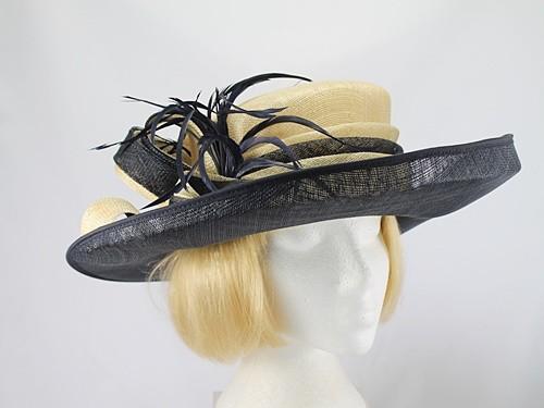 Midnight Blue and Lemon Wedding Hat