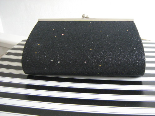wedding bag Black with stars