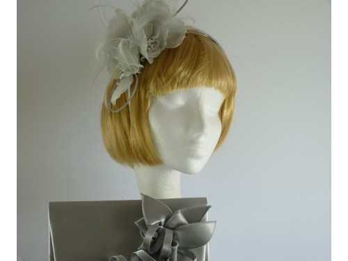 Failsworth Millinery Fascinator and Bag Set