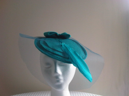 Designs by Cheryl Durrant Fascinator Felt and feather