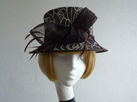 Wedding hat Brown animal print