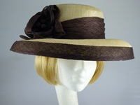 Wedding hat Cream and Brown