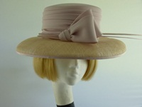 Cappelli Condici Wedding hat Palest Pink Beige