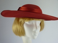 Wedding Hat Amber Red
