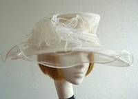 Marks and Spencer Ascot hat White diamontes