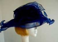 Organza hat Navy Rose