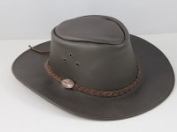 B.E. Hats Brown Australian Leather Hat