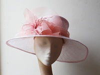 Couture by Beth Hirst Pale Pink Rounded Brim Hat