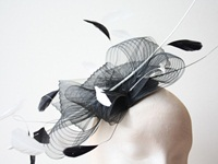 Couture by Beth Hirst Black and White Crin with Quill