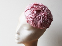 Couture by Beth Hirst Pink Silk Rouched Percher