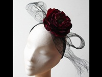 Couture by Beth Hirst Dark Peony Headband