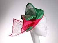 Couture by Beth Hirst Green and Pink Bow Percher