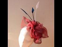 Couture by Beth Hirst Red White and Blue Headpiece