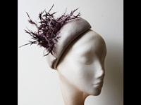 Couture by Beth Hirst Linen Spiky Beret