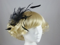 Loops in Black Fascinator