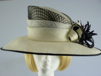 Cappelli Condici Cream and Black Occasion hat