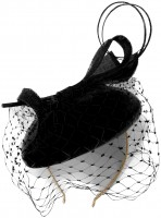 Failsworth Millinery Velvet Sinamay Pillbox Headpiece