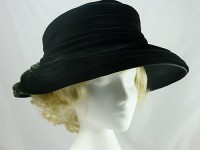 Black Velvety Occasion Hat
