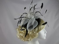 Black and Ivory Headpiece