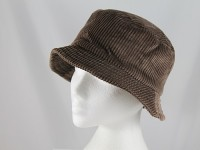 Brown Corduroy Style Hat