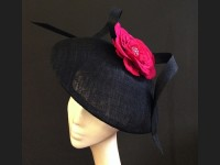 Couture by Beth Hirst Black and Pink Flower Dior esque Saucer