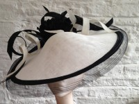 Couture by Beth Hirst Black and White Saucer