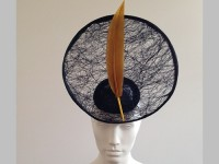 Couture by Beth Hirst Gonzo Large Navy and Gold Saucer