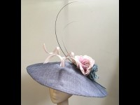 Couture by Beth Hirst Denim Blue Pointed Saucer