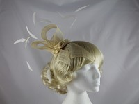 Cream Rosettes Headpiece