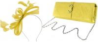 Failsworth Millinery Sinamay Loops Fascinator with Matching Sinamay Bag