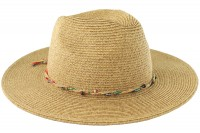 Hawkins Collection Straw Fedora with Bead Band