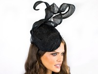 Deb Fanning Millinery Black Lace and Crinoline Hat
