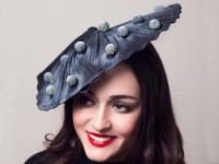 Deb Fanning Millinery Black and White Moon Waves Hat