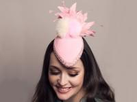 Deb Fanning Millinery Pink Pom Pom Hat