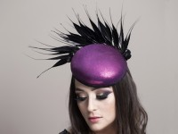 Deb Fanning Millinery Pink Smartie Hat with Feathers
