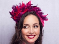 Deb Fanning Millinery Polka Feathered Headpiece