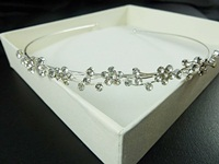 Diamante Flower Tiara