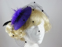 Disc and Veil Fascinator
