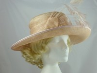 Dusty Pink Wedding Hat