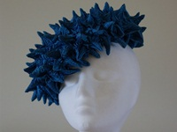 Esther Louise Millinery Turquoise Coral Beret