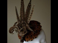 Esther Louise Millinery Pheasant Feather Cocktail Hat