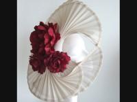Edel Staunton Millinery Ivory Disc Headpiece