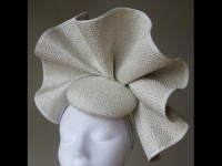 Esther Louise Millinery Ivory Wave Silk Button