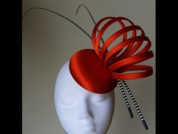 Esther Louise Millinery Tangerine Looped Button