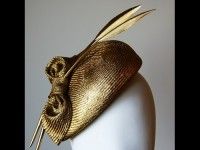 Esther Louise Millinery Gold Parasisal Straw Beret