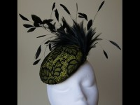 Esther Louise Millinery Neon Lace Button