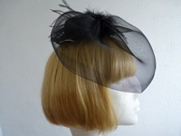 Events fascinator Mini Pillbox Black