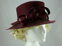 Failsworth Millinery Wool and Sinamay Occasion Hat