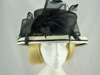 Failsworth Millinery Black and White Ascot Hat