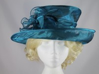 Failsworth Millinery Blue Collapsible Wedding Hat